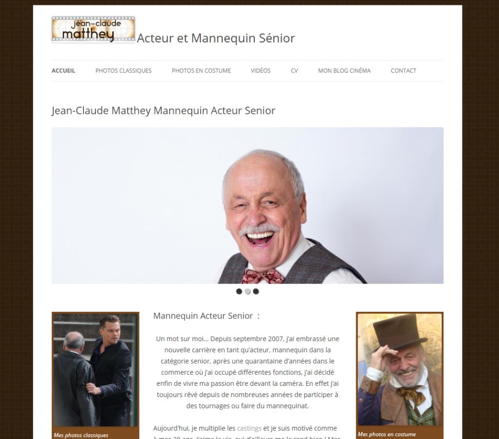 Le site de Jean-Claude Matthey acteur mannequin senior